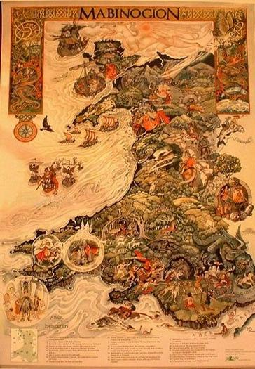 Map of the Mabinogion.