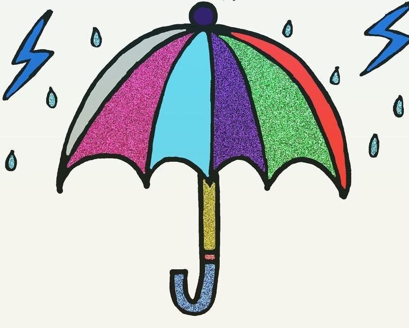 An umberella when it rains