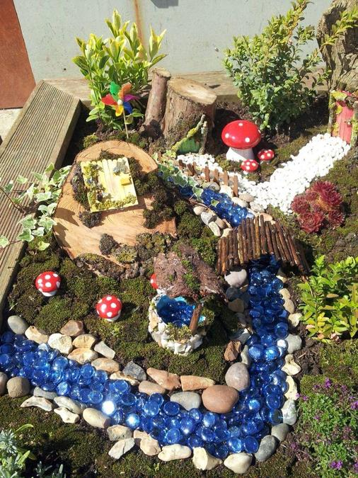 make your own fairy garden and path