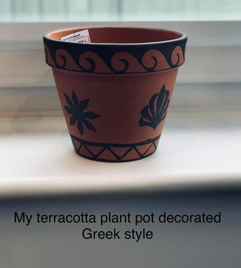 Greek decoration on a pot