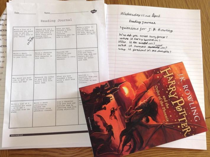 Reading Journal Activities