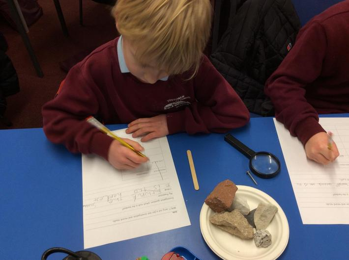 Looking closely and describing rocks
