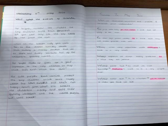 Reading Journal Activity and English