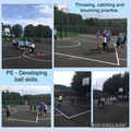 Practising our basketball skills in the new MUGA!