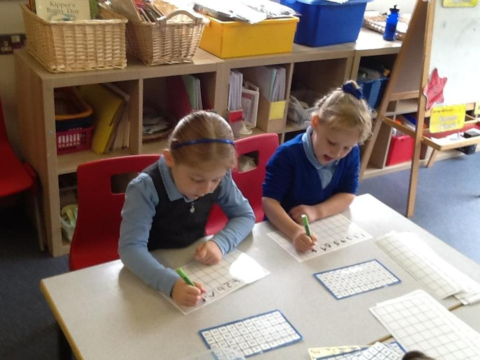 Learning to write our numbers