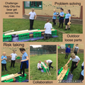 Loose parts outdoor obstacle courses!