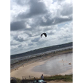 We saw kite surfers