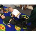 We measured each using feet.