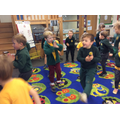 We enjoy a dance in Lavender Class