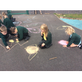 We created rangoli patterns.