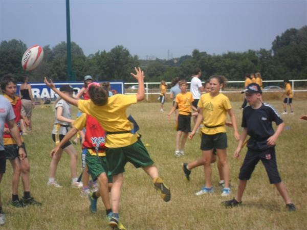 Very hot but enjoyable day playing Tag Rugby