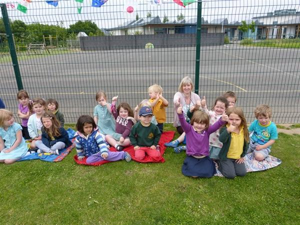 Nursery showing their support