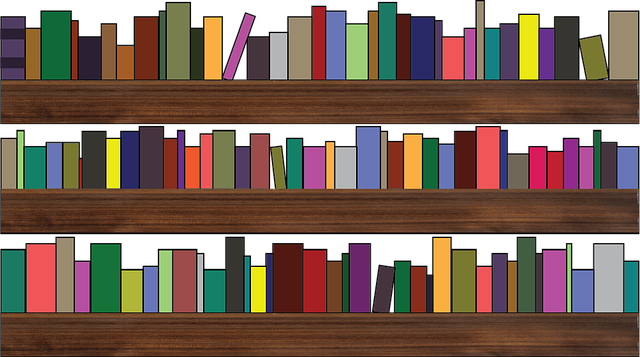 clipart of a bookshelf