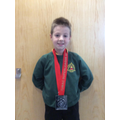 2nd place at his Karate Chamionships.