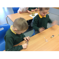 We looked closely at the coins.