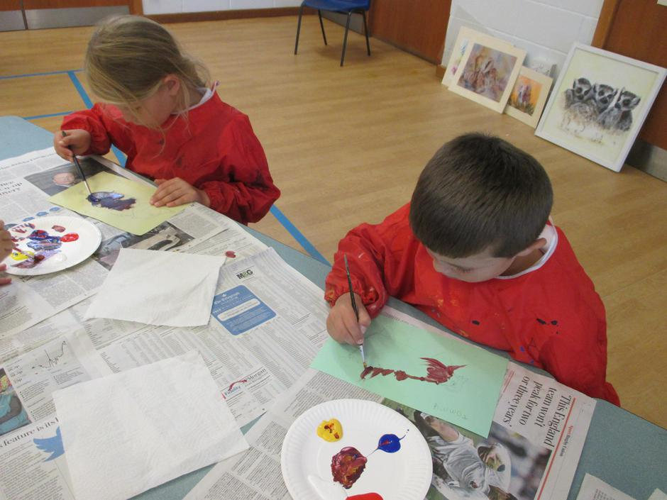 We took lots of care over our paintings.