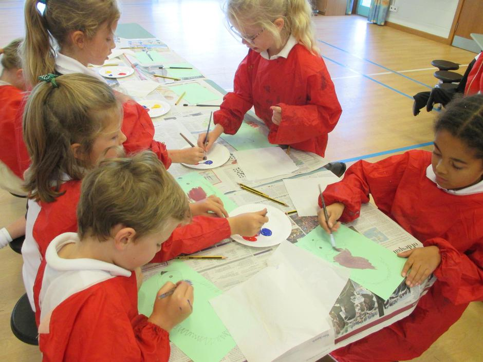 We learnt how to draw hedgehogs.