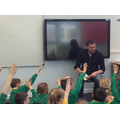 Author James Campbell with Key Stage 2