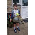L enjoying Tap Up Tennis