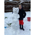 GJ and his fantastic snow bear.
