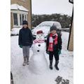 L & JV with their fab snowman
