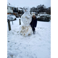 E and her amazing snowman