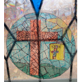 JB Yr3 created this fabulous stained glass window - it's amazing