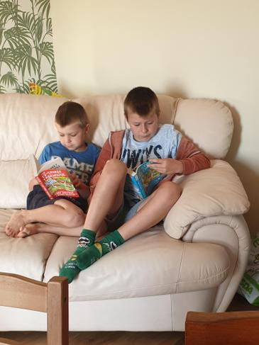 Quiet reading time - well done boys!
