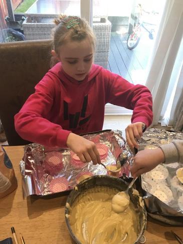 E busy baking treats