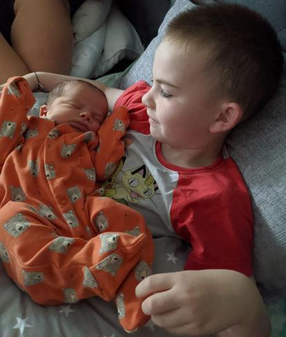 M being an amazing big brother.