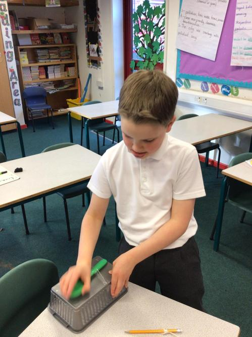 Making musical instruments out of classroom items to link to our Sustainability topic