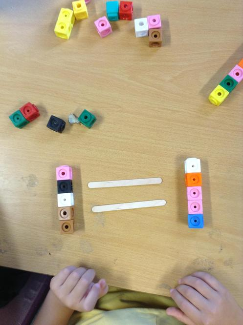 We used cubes.
