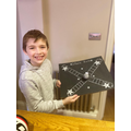 Josh created a space race game