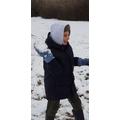 Kieron enjoying the snow