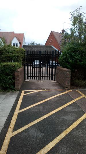 The gate onto the playground
