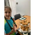 Emily and her home made delicious sausage rolls