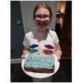 Imogen finished baking