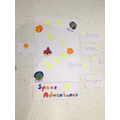Kacey created a space themed board game