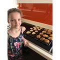 Isabella has been baking.