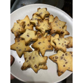 Lola cooked star shaped cookies
