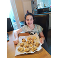Layla has made delicious space rock cakes.