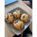 Lola made space rock cakes.