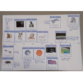 Luke created a timeline and added facts that he researched about space