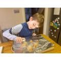 Josh having fun in the kitchen