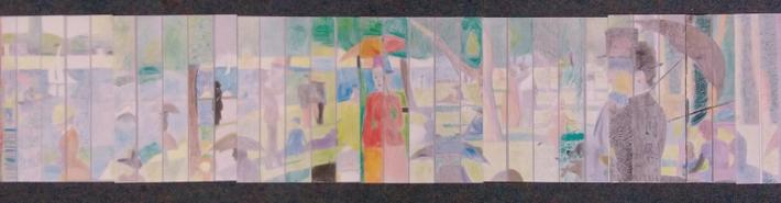 As part of Art Week, we created a study of Sunday In the Park by Georges Seurat.