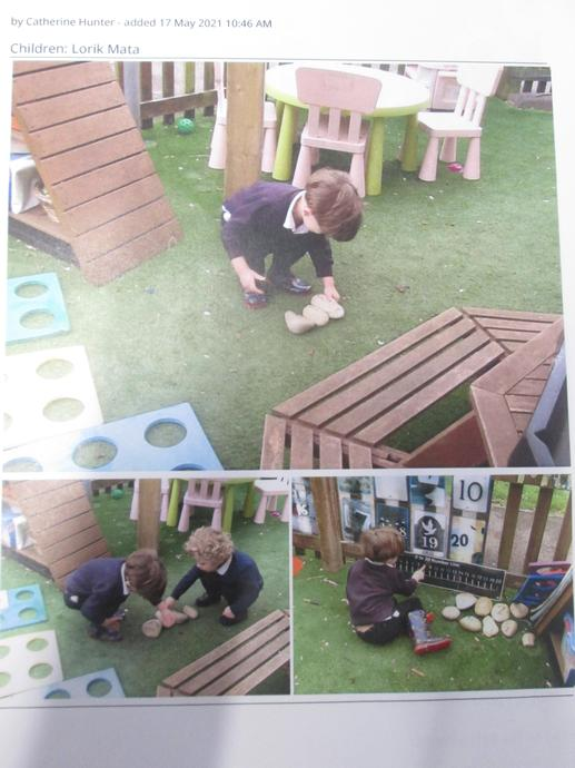 Nursery: Exploring number in the outdoor learning environment during CIL