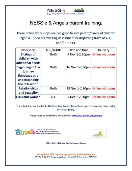 For children awaiting assessment or showing traits of ASD and/or ADHD