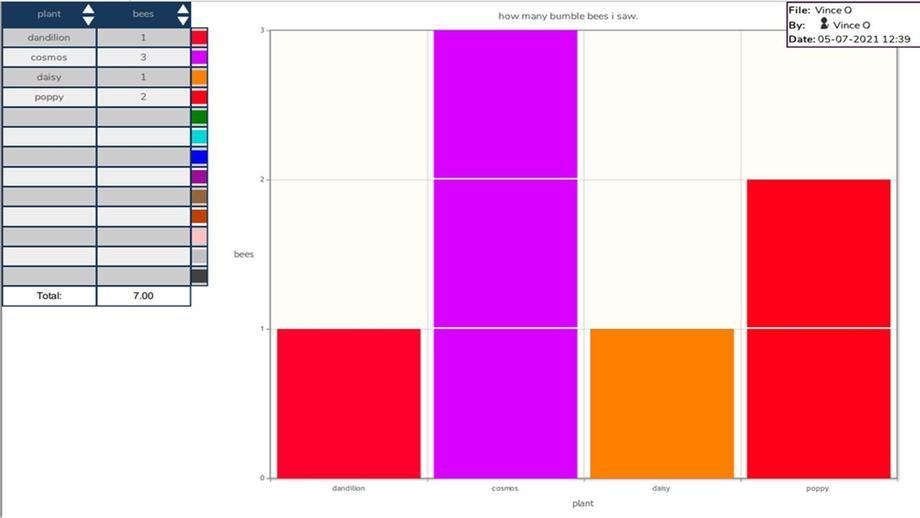 Year 3: Bar graph