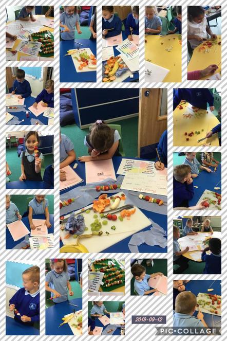 Fruit kebab instructional writing