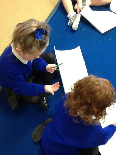 ..and using the same shapes in our writing